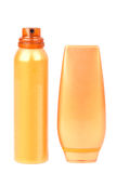 Self tanning tube and spray Stock Photography