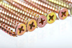 Self-tapping screws stock photos
