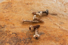 Self-tapping screws Royalty Free Stock Photography