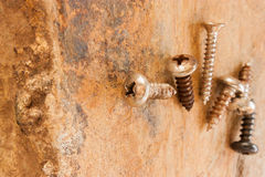 Self-tapping screws Stock Images