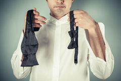 Self tie or clip-on Stock Images