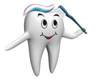 selfbrushing δόντι Στοκ εικόνα με δικαίωμα ελεύθερης χρήσης