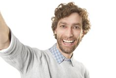 Selfi male royalty free stock photography