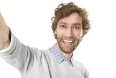 Selfi-Mann lizenzfreie stockfotografie
