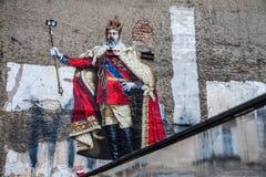 Selfie做了国王 免版税库存图片