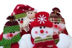 Selfie圣诞节 圣诞老人和朋友 滑稽的构成 免版税图库摄影