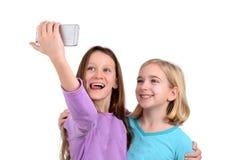 Selfie女孩 库存照片