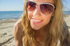 Selfie妇女面孔 免版税库存照片