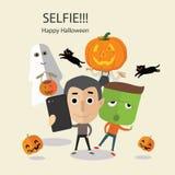 Selfie愉快的万圣夜 库存图片