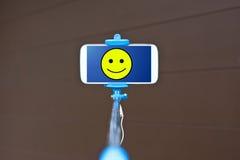 Selfie棍子 免版税图库摄影