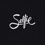 Selfie概念的简单的文本设计 向量例证