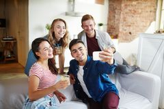 Selfie à la partie Photographie stock