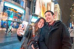 Selfie à New York Images libres de droits