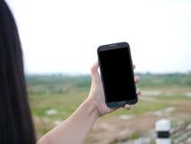 Selfie με το κινητό έξυπνο τηλέφωνο Στοκ Φωτογραφία