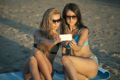 Selfie στην παραλία Στοκ Εικόνα