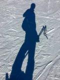 Selfie στη σκιά χιονιού στο θέρετρο ουρανού Grandvalira στοκ φωτογραφία με δικαίωμα ελεύθερης χρήσης