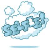 Selfie στο σύννεφο που απομονώνεται Στοκ φωτογραφίες με δικαίωμα ελεύθερης χρήσης