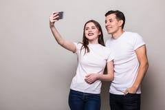 Selfie взятия пар Стоковые Изображения RF