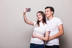 Selfie взятия пар Стоковое фото RF