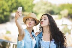 Selfie во время каникул Стоковые Фото