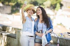 Selfie во время каникул Стоковая Фотография RF