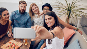 Selfie во время партии Стоковые Фотографии RF