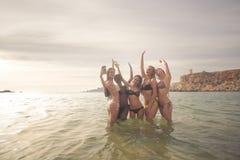Selfie в море Стоковая Фотография