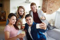 Selfie дома Стоковое фото RF