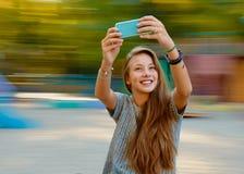 Selfie девушки подростка Стоковая Фотография