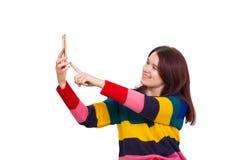 Selfie женщины стоковые фото