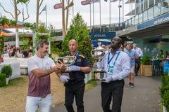 Selfie на открытом чемпионате Австралии по теннису Стоковая Фотография RF