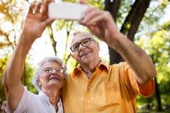 Selfie пенсионера 2 Стоковые Фотографии RF