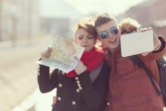 Selfie путешественника Стоковое Изображение