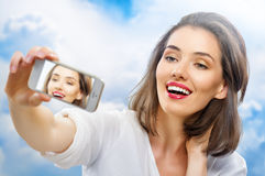 Selfie imagen de archivo