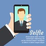 Selfie vektor abbildung