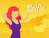 Selfie stock abbildung