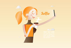 Selfie Foto de Stock Royalty Free