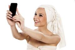 Selfie Stockbild