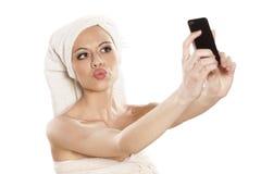 Selfie Fotografering för Bildbyråer