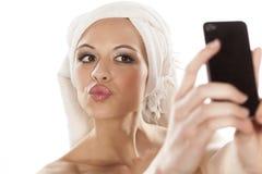 Selfie Royaltyfria Foton