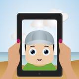 Selfie royalty-vrije illustratie