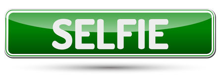 SELFIE - Abstract beautiful button with text. Stock Photo