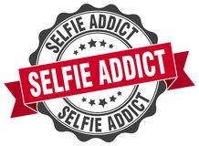 Selfie addict stamp. Sign. seal Royalty Free Stock Photo