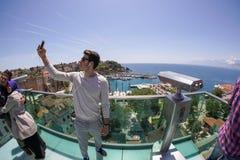 Selfie in Antalya stock foto