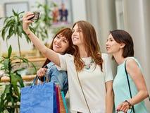 Selfie après l'achat Photo stock