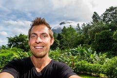 Selfie Arenal, Κόστα Ρίκα Στοκ Εικόνες
