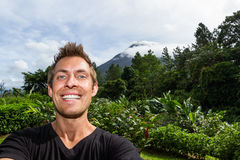 Selfie in Arenal, Costa Rica Royalty Free Stock Image