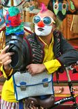 Selfie av en rolig gatakonstnär Italy Arkivbild