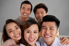 Selfie avec des amis Photo libre de droits