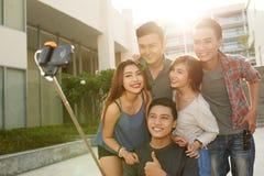 Selfie avec des amis Photo stock